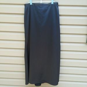 JS Collections Sz 14 Black Satin Formal Skirt